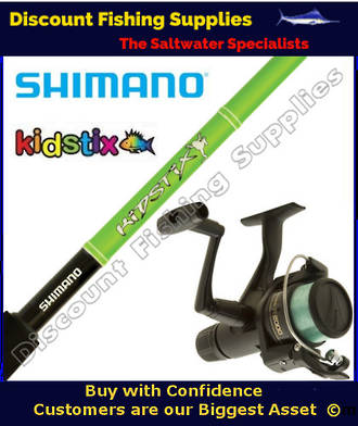 Shimano KidStix / IX2000 Kids Combo - Frog 3ft 4inch WITH LINE