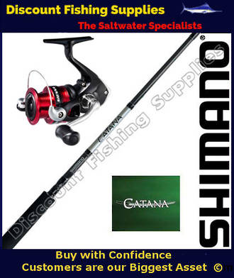Shimano Sienna 2500FG / Catana Softbait Set 2pc