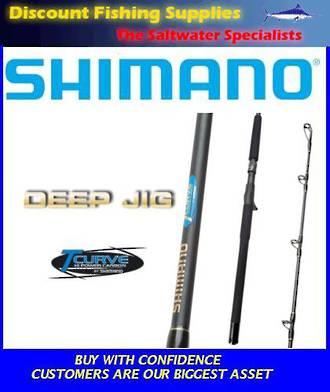 Shimano T-Curve Deep Jig O/H 24kg Rod - 200gr