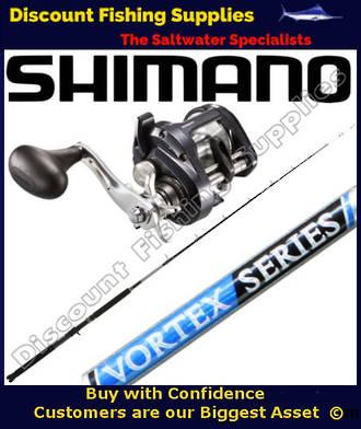 """Shimano Tekota 600HGA - Vortex 10-15kg 6'10"""" Boat Combo"""