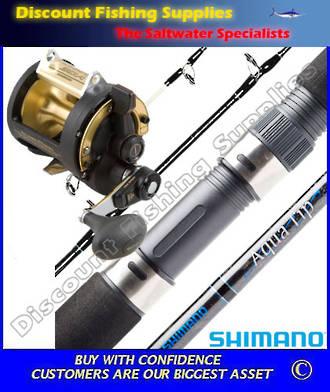 Shimano TLD 30 2 Speed - AquaTip Deepwater Combo - Roller Tip