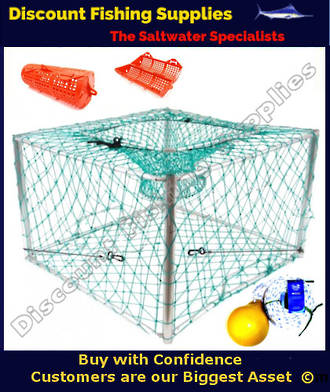 Collapsible Square Aluminium Craypot WITH Rope, Float & Bait Holder