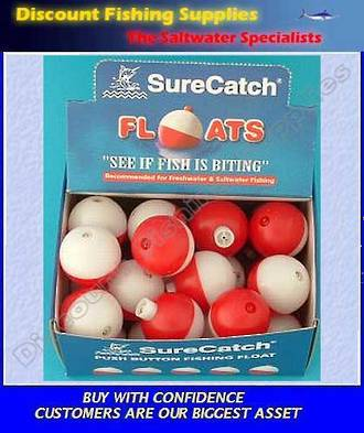 Push Button Fishing Float Medium - 1""