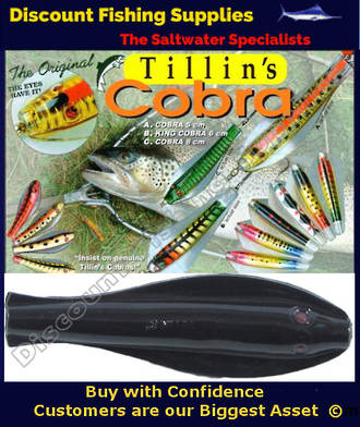Tillins Cobra Wobbler Lure 19g 3inch Colour 1 with Hook and Bead