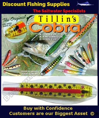 Tillins Cobra Wobbler Lure 19g 3inch Colour 5 with Hook and Bead