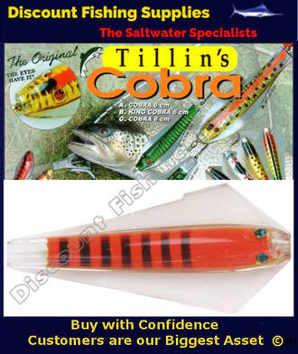 Tillins King Cobra Lure 13.5g Colour 62 with Hook and Bead