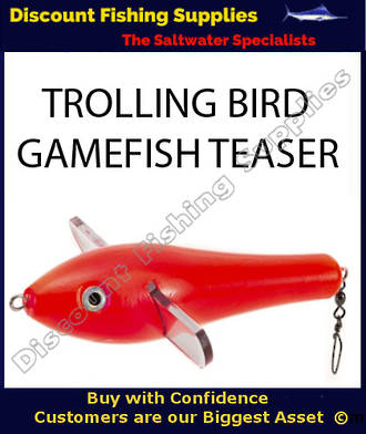 Trolling Teaser Bird - Red 18cm
