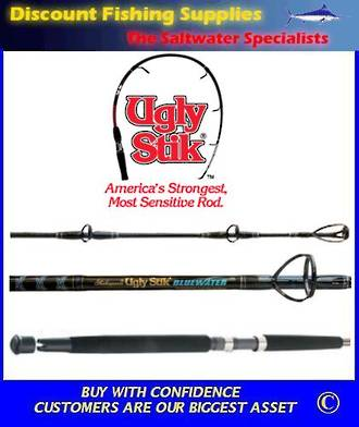 Shakespeare UGLY STIK Bluewater O/Head Stand Up Rod 24kg