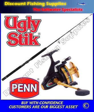 Penn Spinfisher 850SSM Ugly Stik 24kg Spin Jig Combo