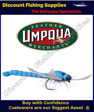 Umpqua Flywater Foam Damsel (blue) #12 Fly