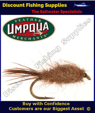 Umpqua Hare and Copper Weighted #14 Fly