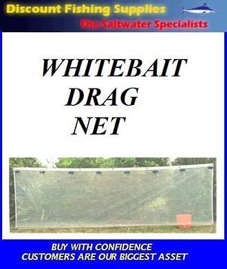 Whitebait Drag Net (KiwiMesh) GREY MESH