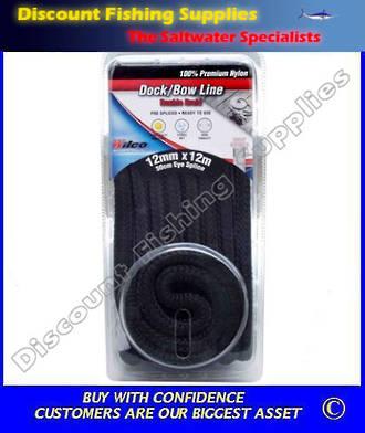 Wilco Dock / Bow Line - 12mm X 12m Black