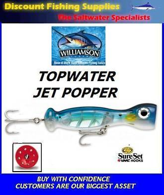 "Williamson Jet Popper - 7"" Blue Sardine"