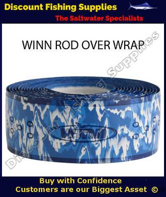 Winn Fishing 44 inch Rod Overwrap White/Blue Camo