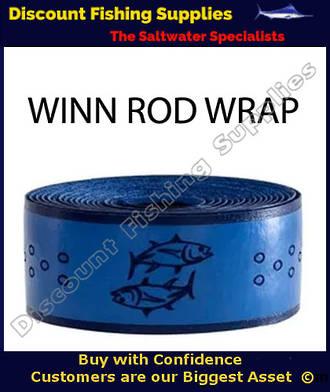 Winn Fishing 96 inch Rod Overwrap Blue