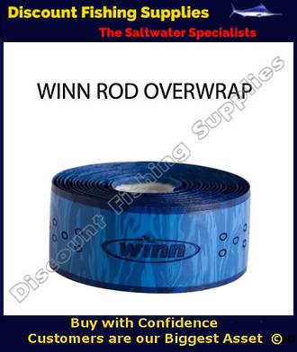 Winn Fishing 44 inch Rod Overwrap Blue Camo