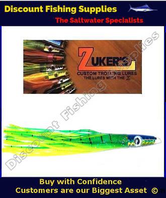 """Zuker 11"""" - Vinyl Skirt Trolling Lure - ZM3.5 Dorado"""