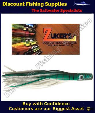 """Zuker 11"""" - Vinyl Skirt Trolling Lure - ZM3.5 Mackerel"""