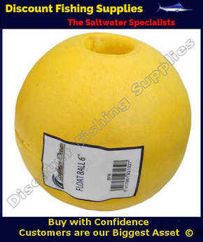 POLY BALL FLOAT 6inch - Yellow