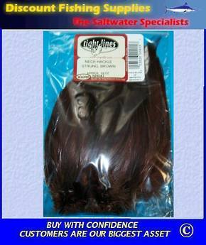 Strung Neck Hackle - Brown