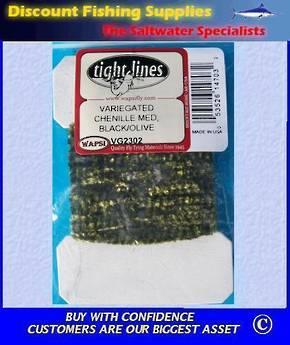 Variegated Chenille Med - Black Olive