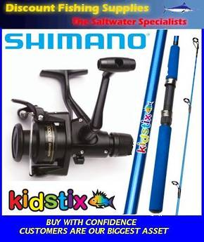 Shimano KidStix / IX2000 Kids Combo - Blue 6ft 2pc  WITH LINE
