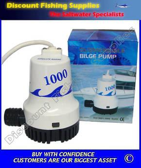 Absolute Marine Bilge Pump - 1000 gph