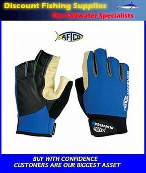 AFTCO Bluefever Short Pump LR Jigging Gloves XL