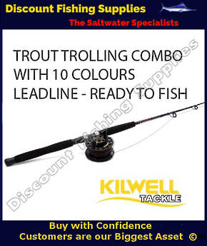 Kilwell Trout Trolling Combo XTR2 561, AL456BFN, With Leadline 10 colours