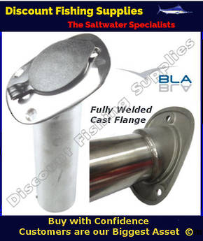 BLA Rod Holder - Flush Mount  Cast Stainless Steel With Cap