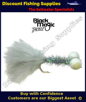 Black Magic Grey Booby Fly (Foam Eyes) #6