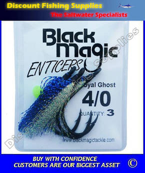 Black Magic Enticer Flies 4/0