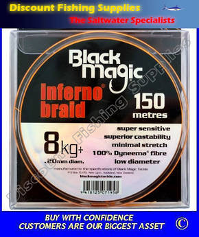 Black Magic Inferno Braid 8kg X 150m