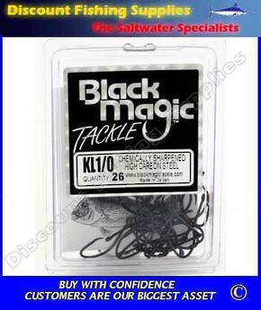 Black Magic KL Recurve Hooks - Small Pack