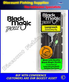 Black Magic Longreach Surfcasting Rig 3/0 No Floats