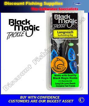 Black Magic Longreach Surfcasting Rig 3/0 Blue/White