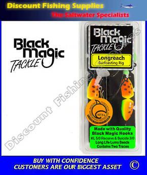 Black Magic Longreach Surfcasting Rig KL5/0 Green/Orange