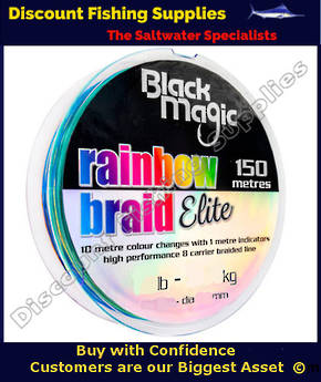 Black Magic RAINBOW BRAID ELITE 12LB X 150m
