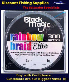 Black Magic RAINBOW BRAID ELITE 30LB X 300m