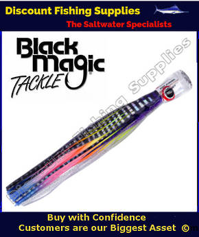 Black Magic SOFT PUSHER RANGE  - Marlin / Tuna Lure - Hell Raiser