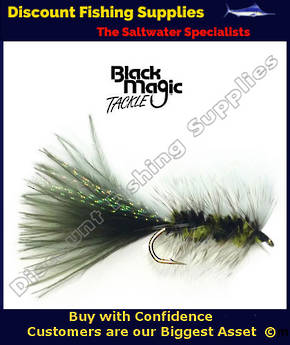 Black Magic Woolly Bugger #4 Trout Fly - Black