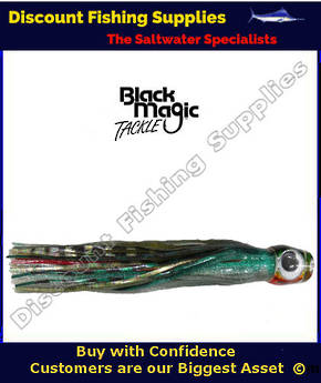 Black Magic Large Devil Lure - Green black Silver over Gold Silver