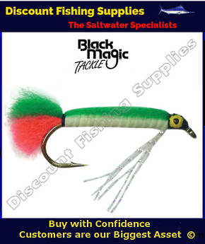 Black Magic Lumo Green Doll Fly #6