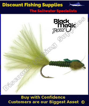 Black Magic Olive Damsel Nymph Vinyl Rib #12