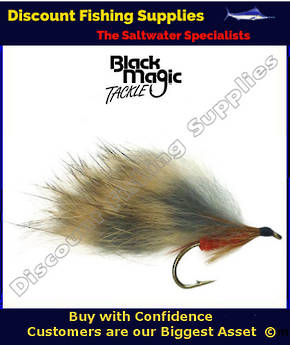 Black Magic Orange Rabbit #8 Trout Fly