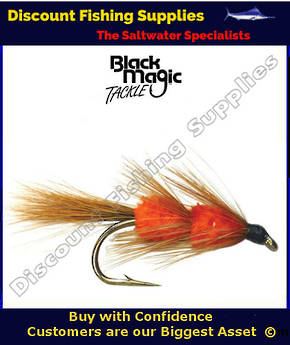 Black Magic Red Setter Light Tail #6 Trout Fly