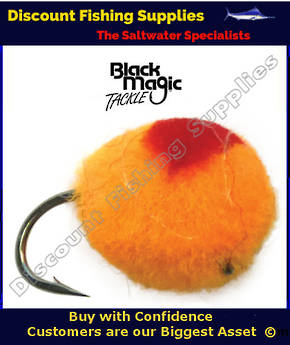 Black Magic Unweighted Globug - Fluoro Orange & Red #10