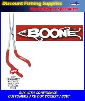 "Boone Easy Hook Remover - Quick Grip 11 1/2"" Longnose Plier"