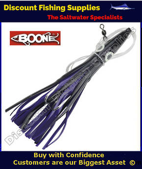 "Boone Tuna Eyes 6 1/2"" Rigged Lure - Purple/Black"